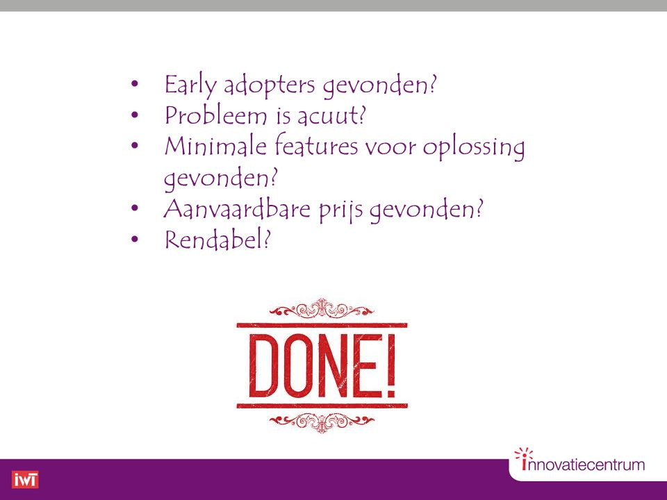 Early adopters gevonden