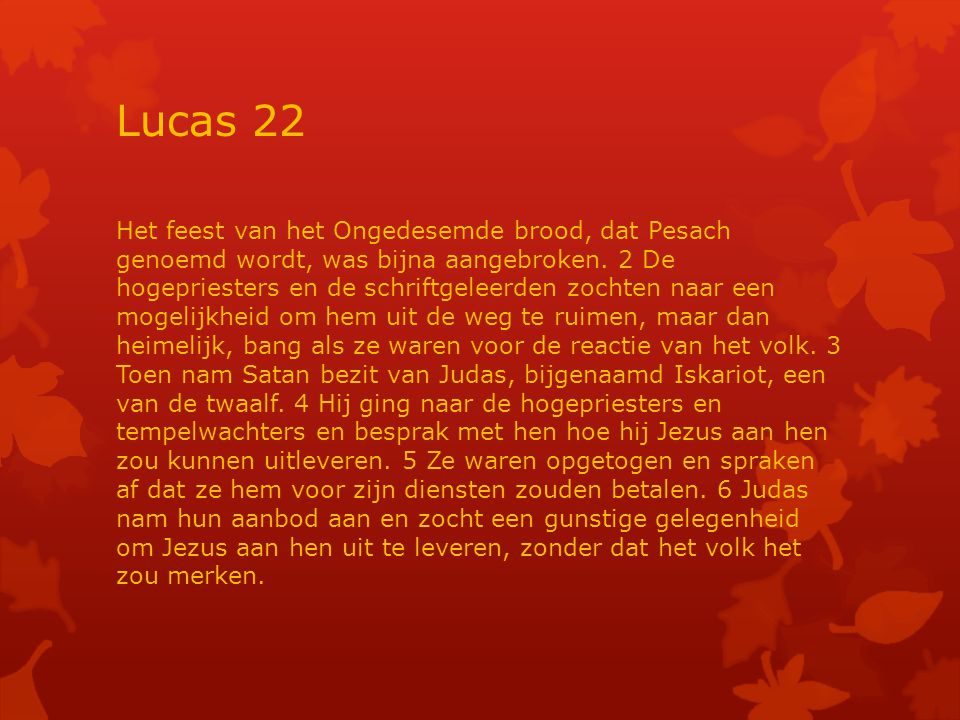 Lucas 22