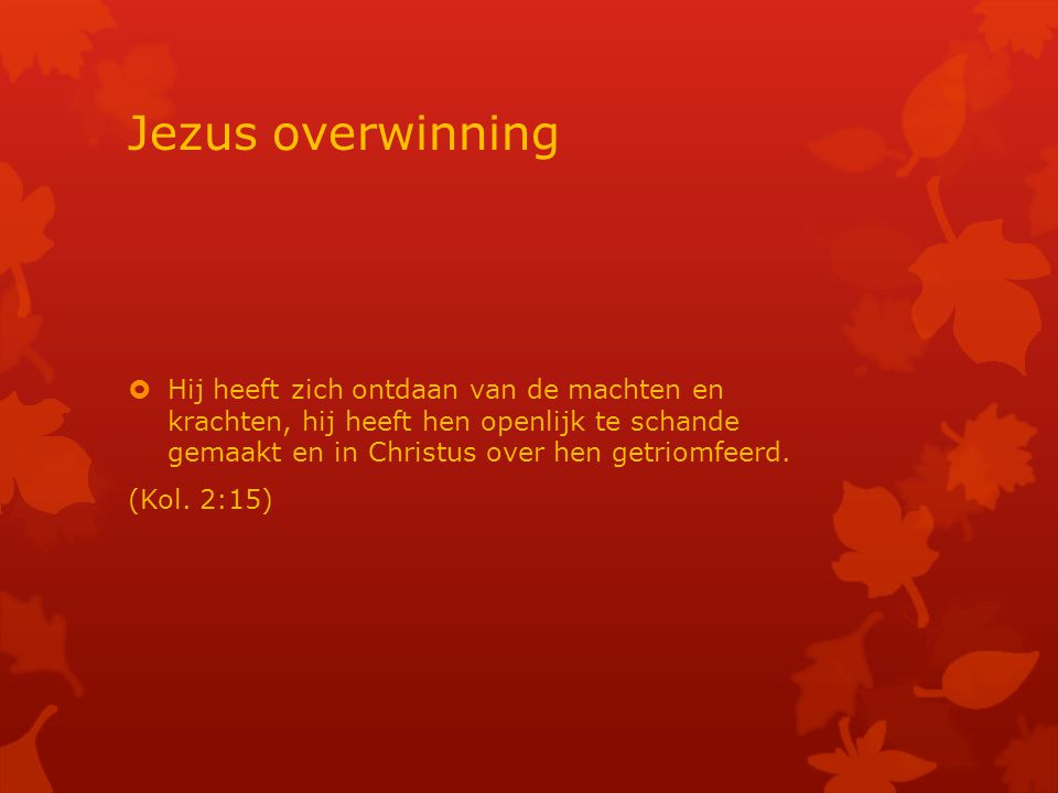 Jezus overwinning