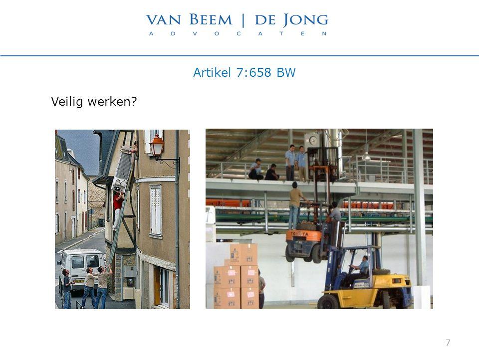Artikel 7:658 BW Veilig werken