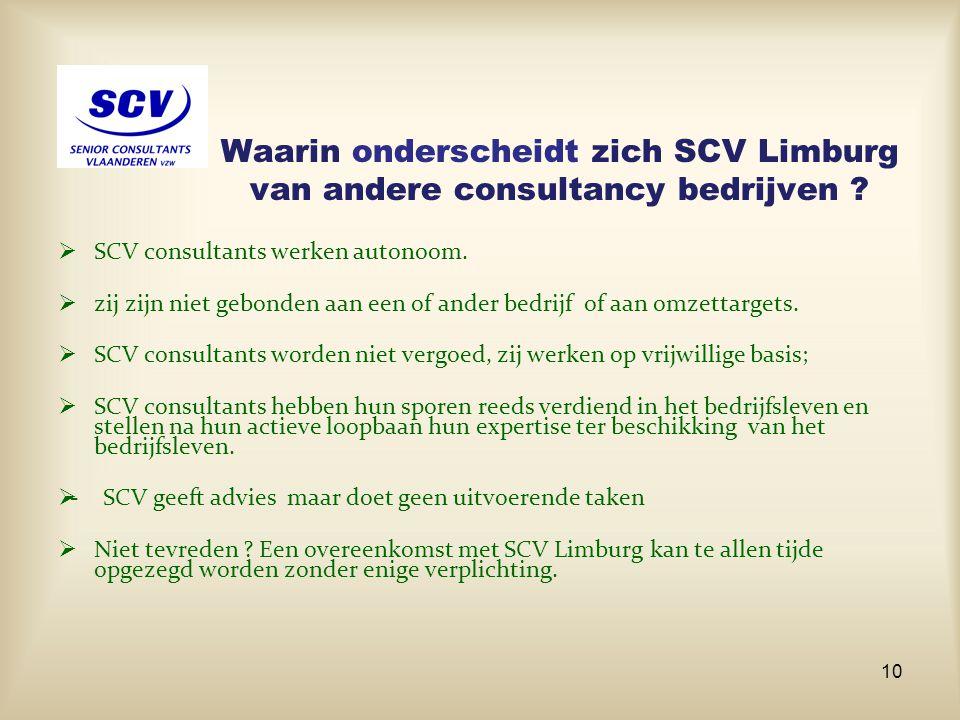 Waarin onderscheidt zich SCV Limburg van andere consultancy bedrijven