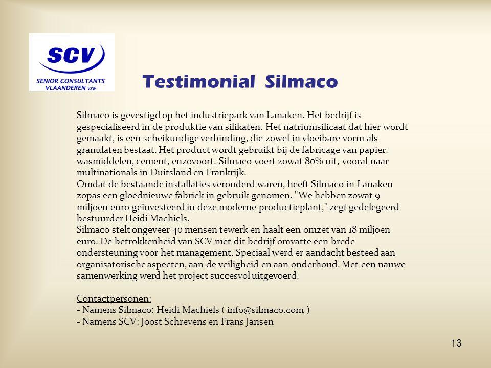 Testimonial Silmaco