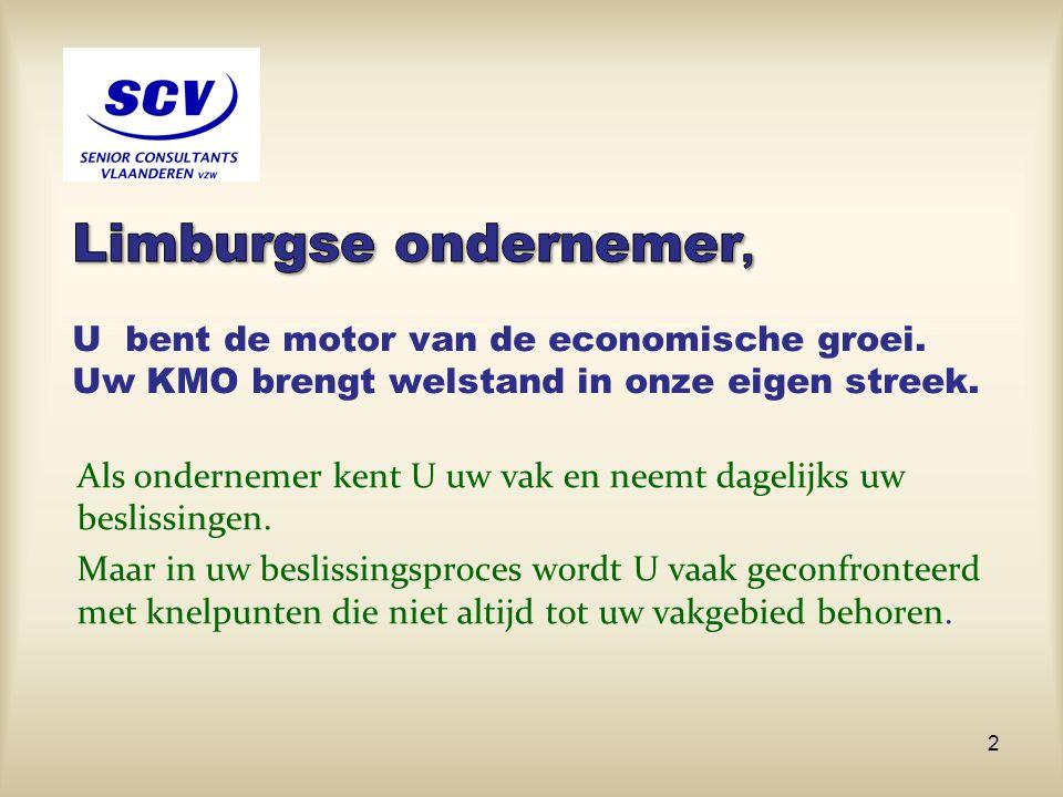 Limburgse ondernemer, U bent de motor van de economische groei