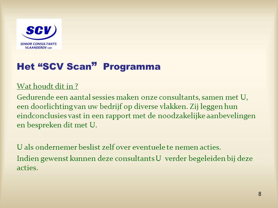 Het SCV Scan Programma
