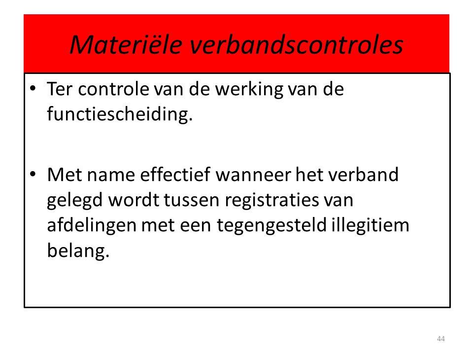 Materiële verbandscontroles