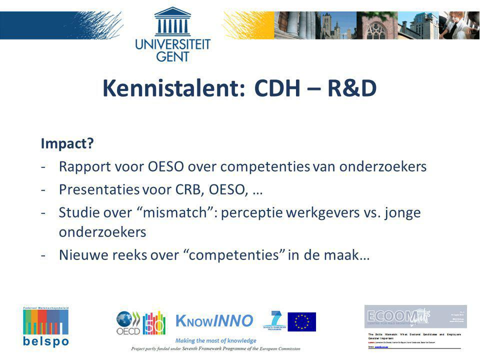 Kennistalent: CDH – R&D