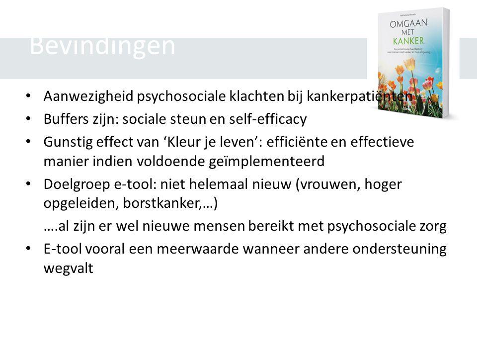 Bevindingen Aanwezigheid psychosociale klachten bij kankerpatiënten