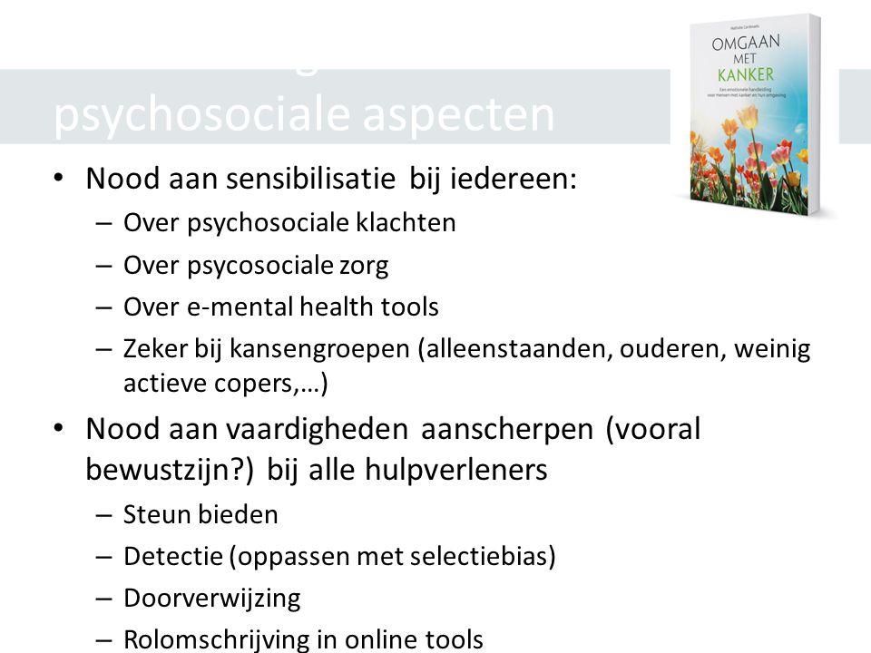 Aanbevelingen m.b.t. psychosociale aspecten