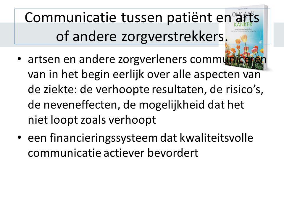 Communicatie tussen patiënt en arts of andere zorgverstrekkers.