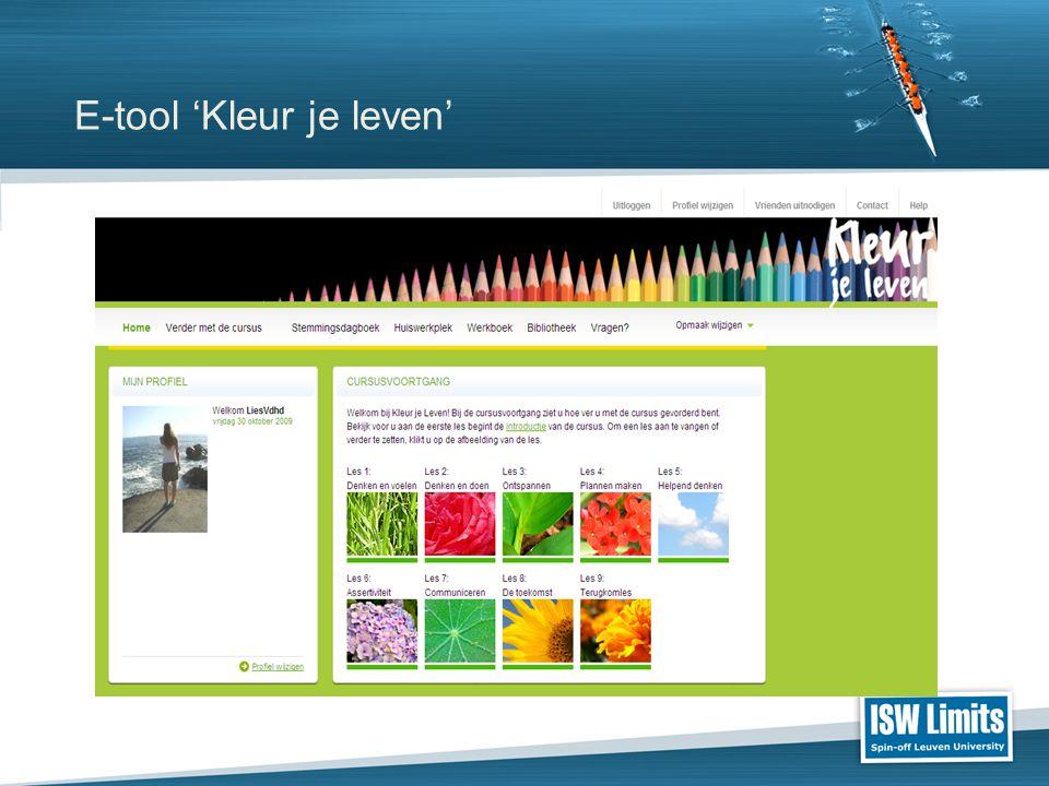 E-tool 'Kleur je leven'