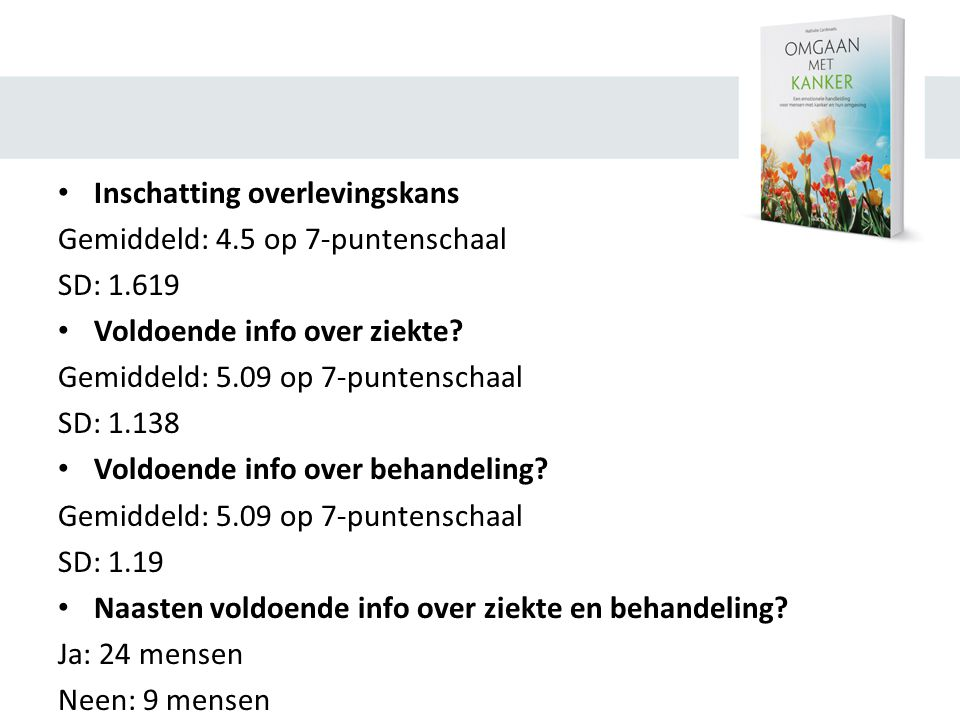 Inschatting overlevingskans