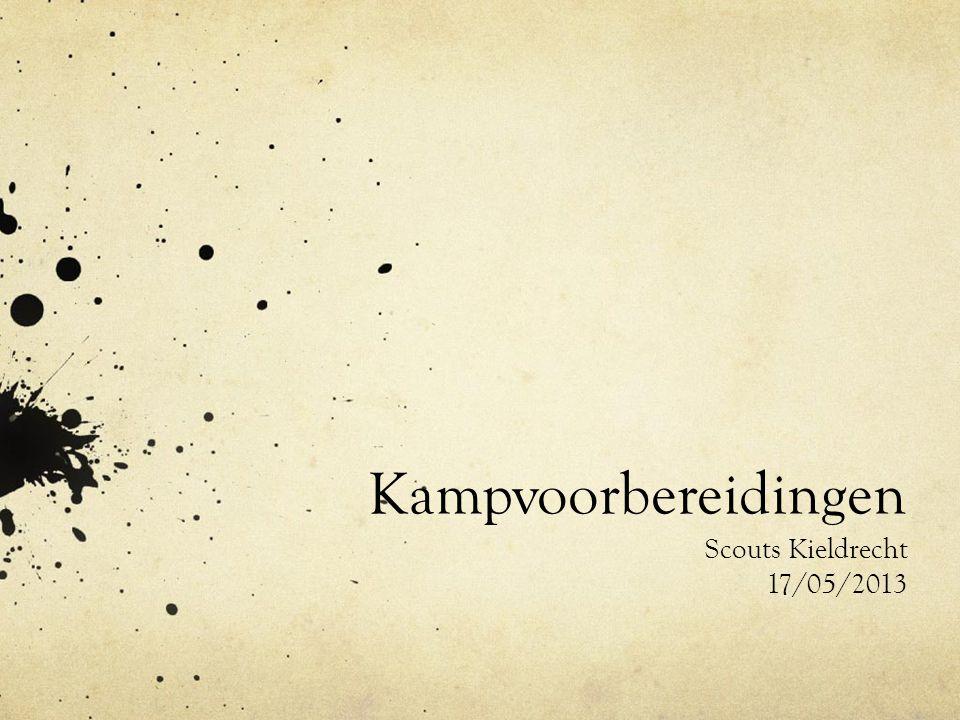 Kampvoorbereidingen Scouts Kieldrecht 17/05/2013