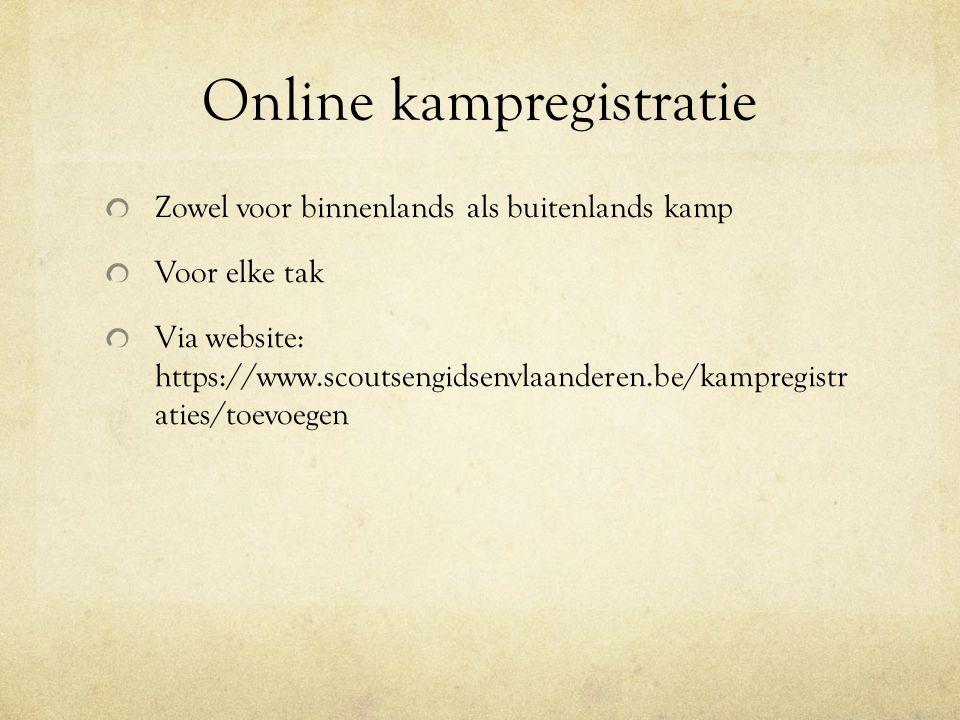 Online kampregistratie