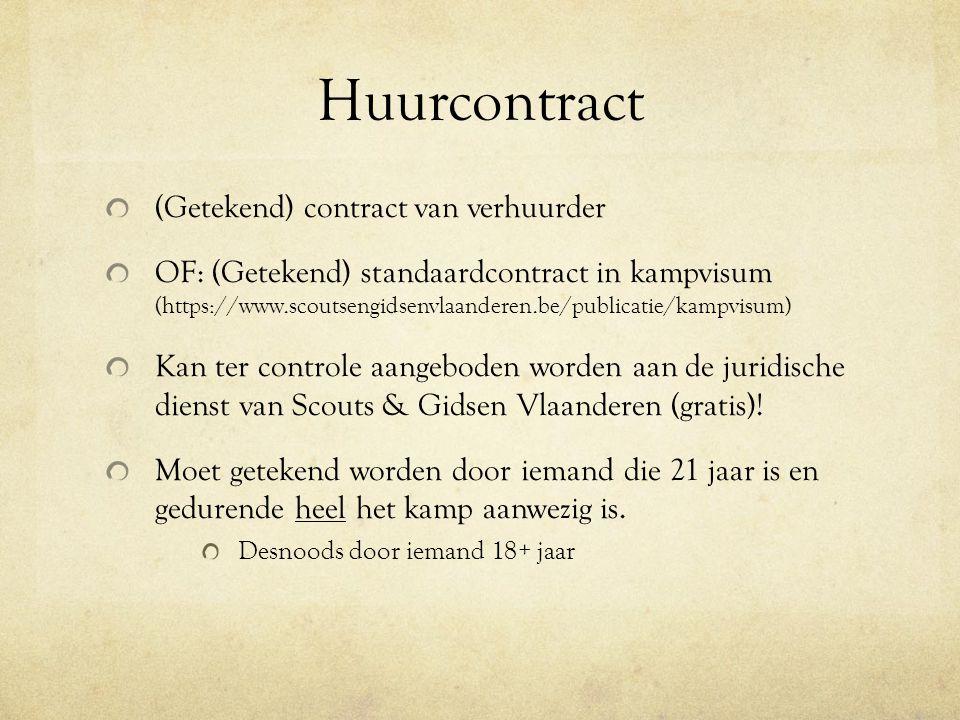 Huurcontract (Getekend) contract van verhuurder