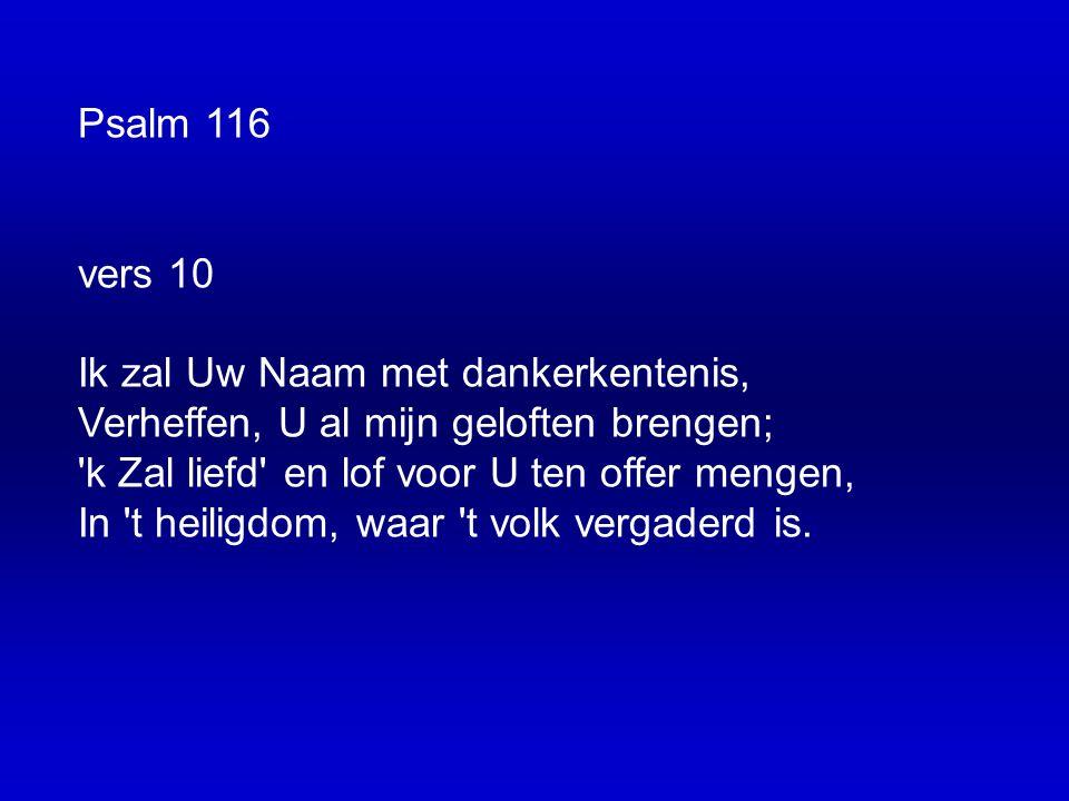 Psalm 116 vers 10.