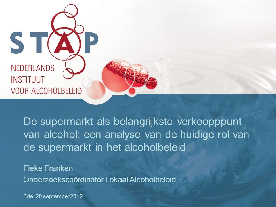 De supermarkt als belangrijkste verkoopppunt van alcohol: een analyse van de huidige rol van de supermarkt in het alcoholbeleid
