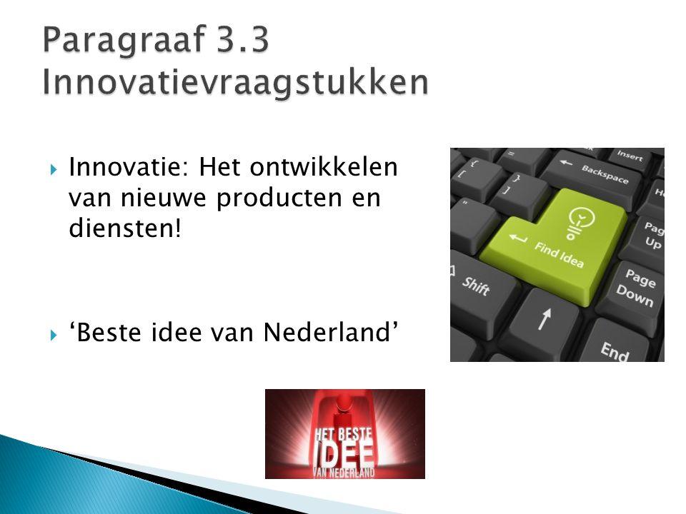 Paragraaf 3.3 Innovatievraagstukken