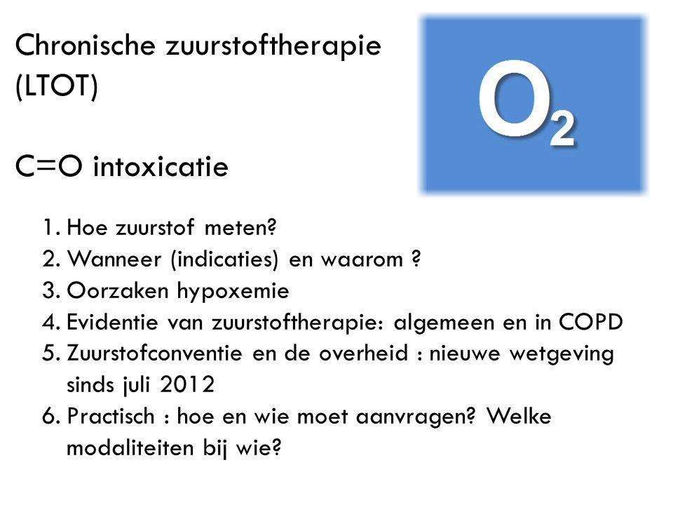 Chronische zuurstoftherapie (LTOT)