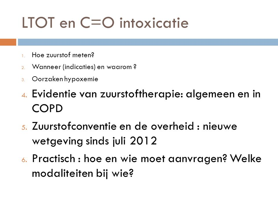 LTOT en C=O intoxicatie