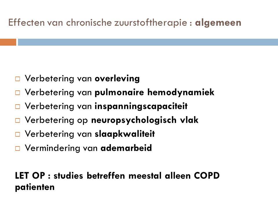 Effecten van chronische zuurstoftherapie : algemeen
