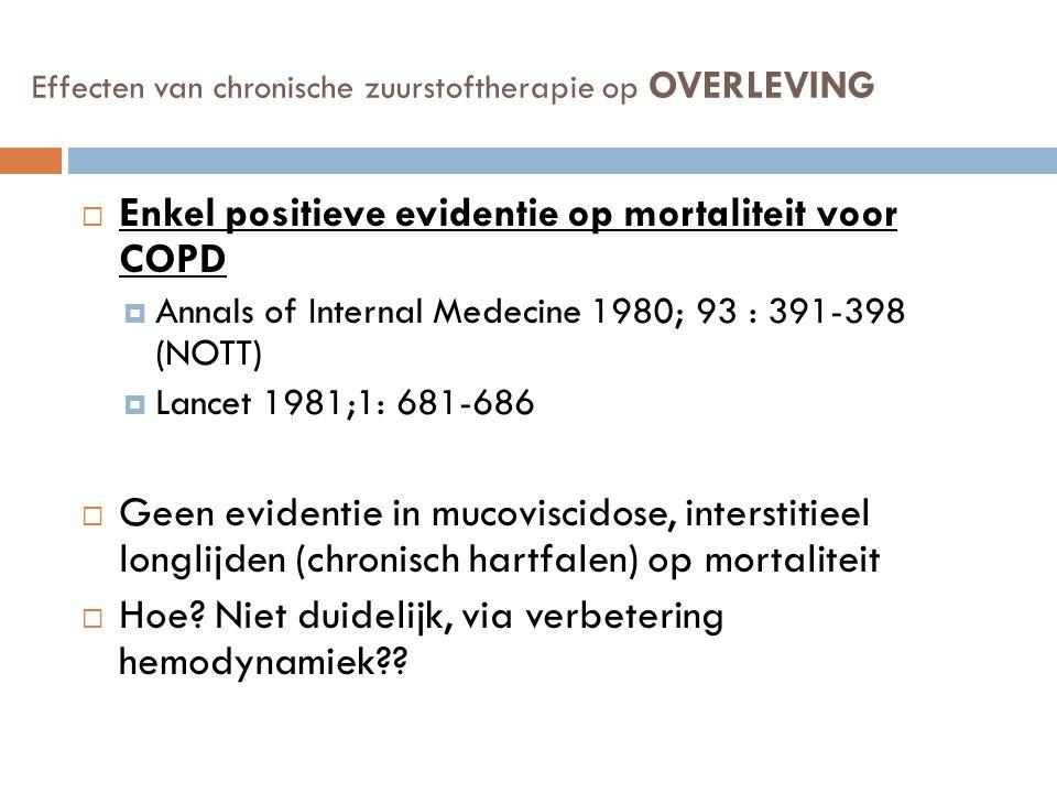 Effecten van chronische zuurstoftherapie op OVERLEVING