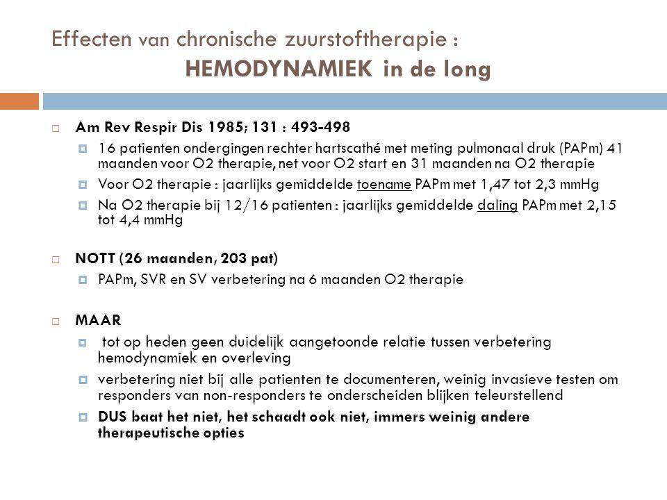 Effecten van chronische zuurstoftherapie : HEMODYNAMIEK in de long
