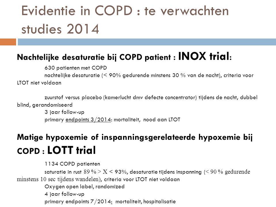 Evidentie in COPD : te verwachten studies 2014