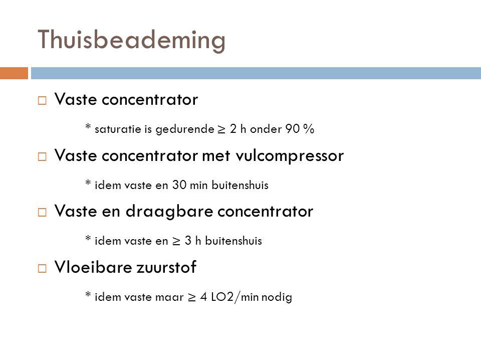 Thuisbeademing Vaste concentrator