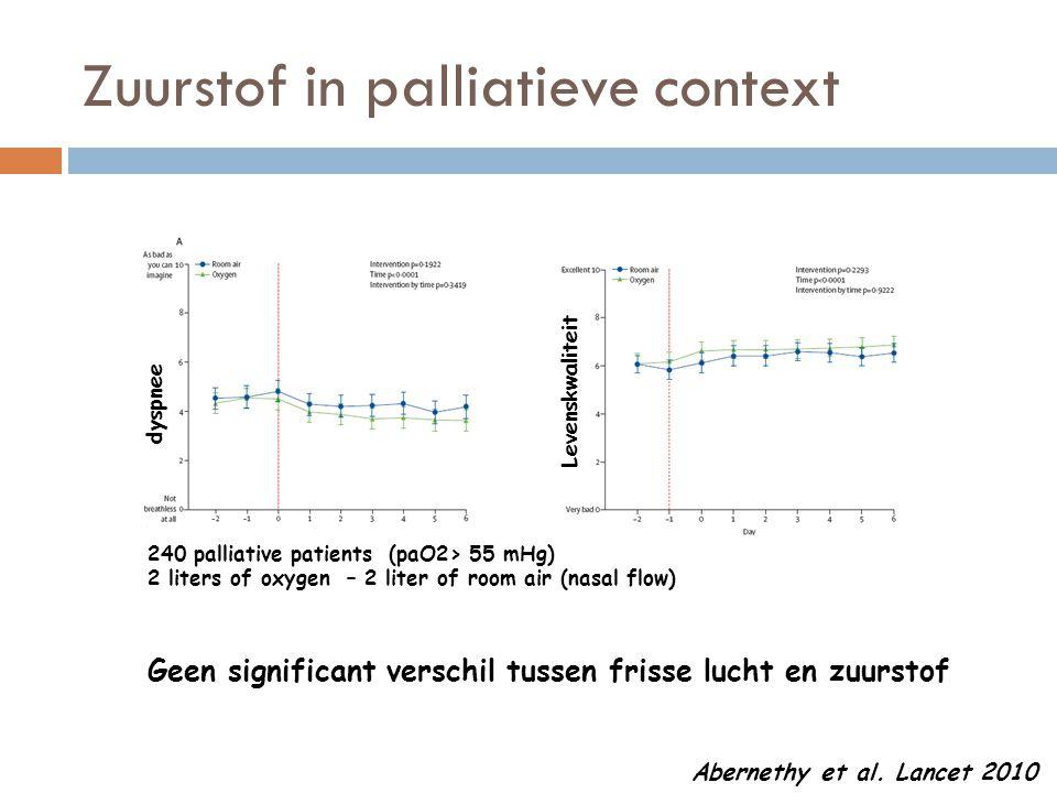 Zuurstof in palliatieve context