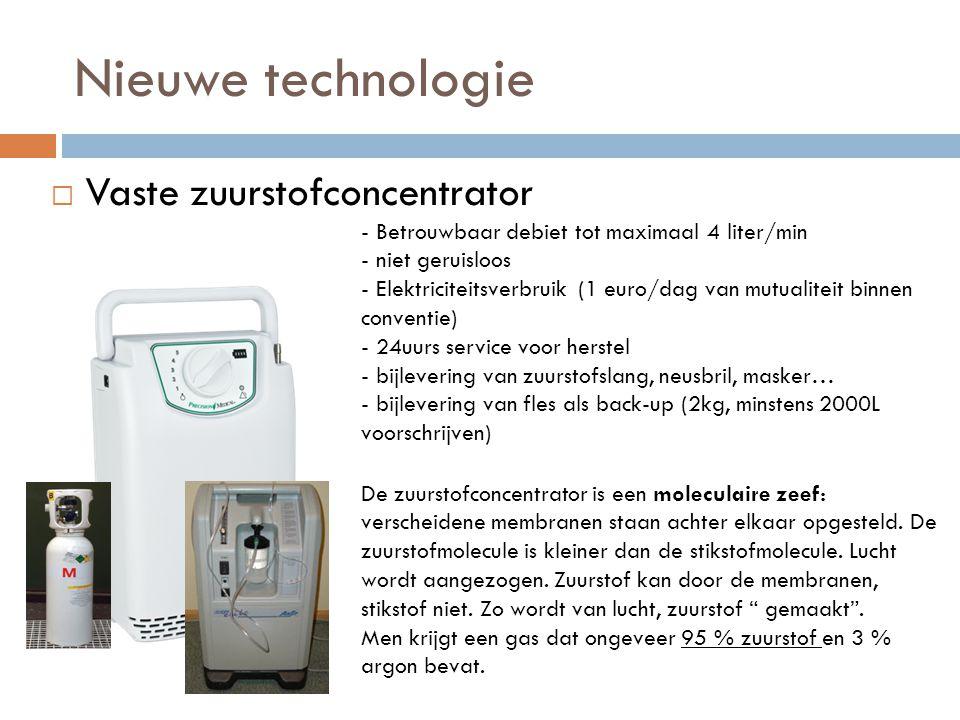 Nieuwe technologie Vaste zuurstofconcentrator