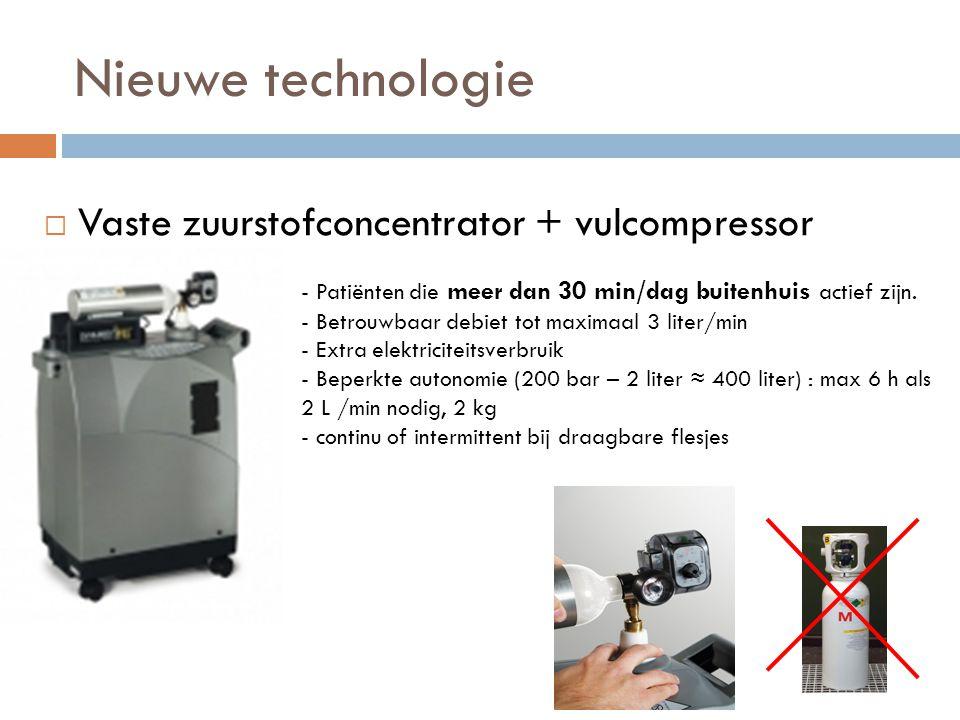 Nieuwe technologie Vaste zuurstofconcentrator + vulcompressor