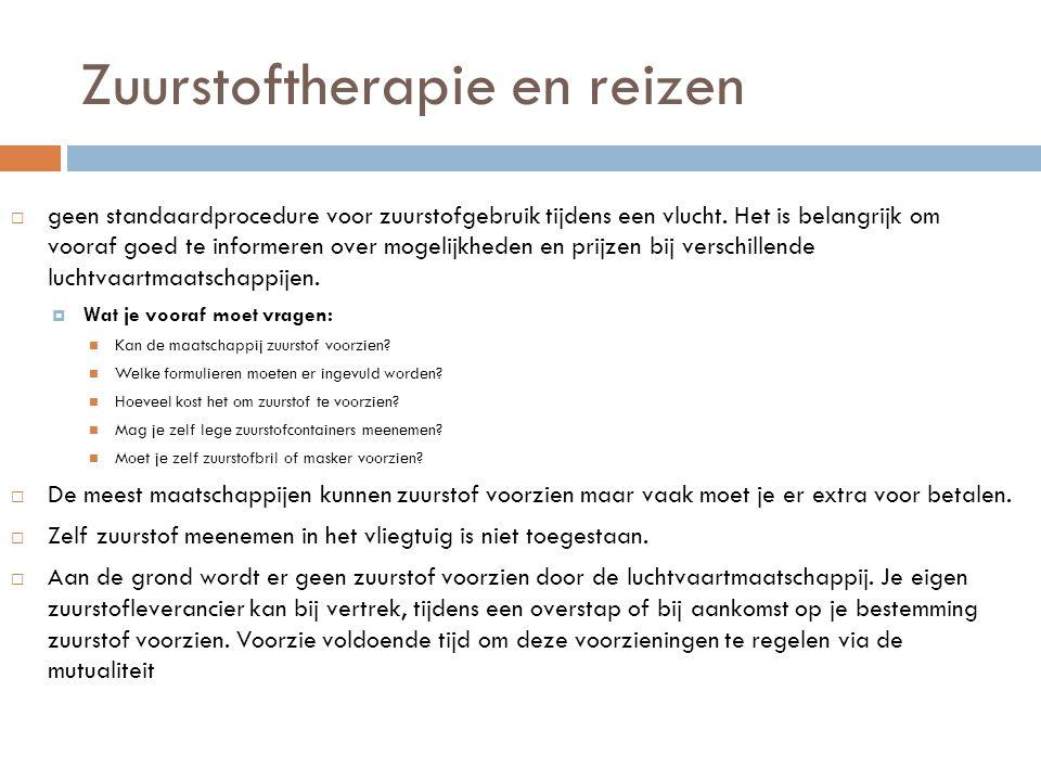 Zuurstoftherapie en reizen