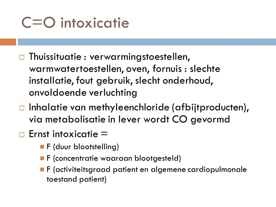 C=O intoxicatie