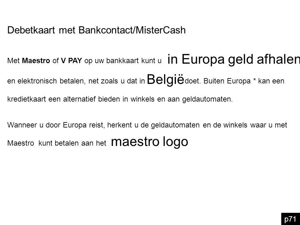 in Europa geld afhalen België maestro logo