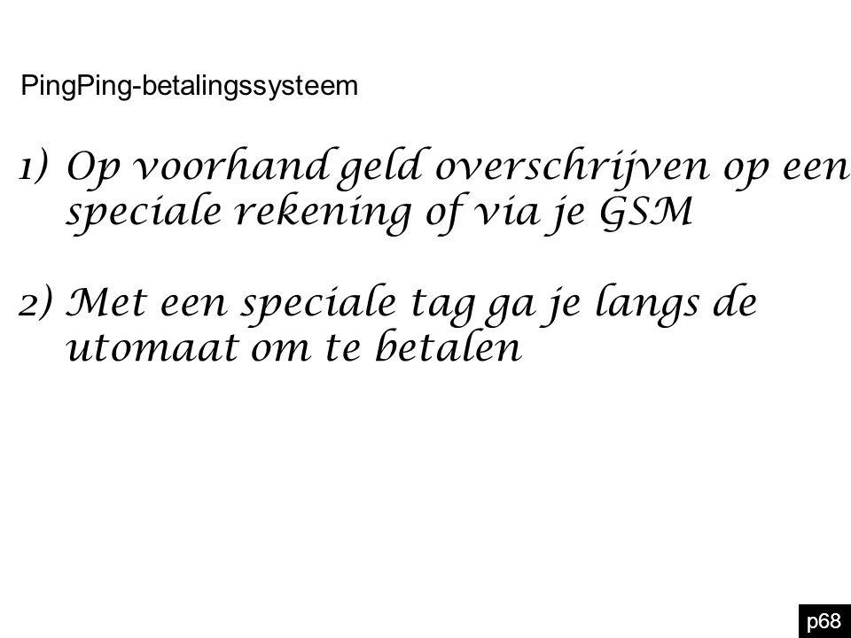 Op voorhand geld overschrijven op een speciale rekening of via je GSM