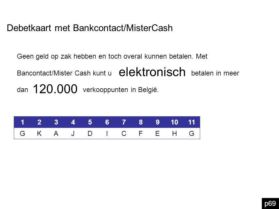 elektronisch 120.000 Debetkaart met Bankcontact/MisterCash