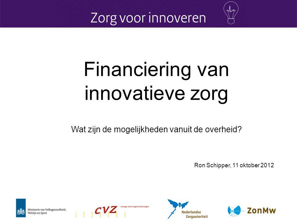 Financiering van innovatieve zorg
