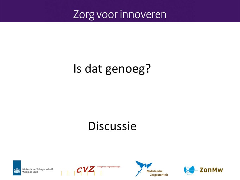 Is dat genoeg Discussie