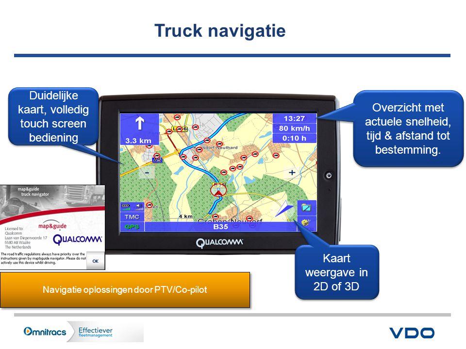 11 Truck navigatie Duidelijke kaart, volledig touch screen bediening