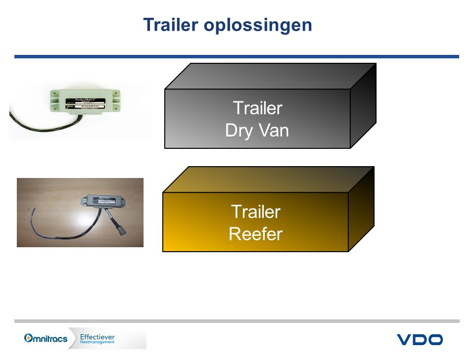Trailer oplossingen Trailer Dry Van Trailer Reefer