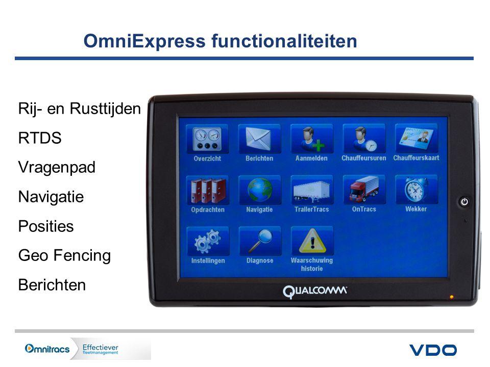 OmniExpress functionaliteiten