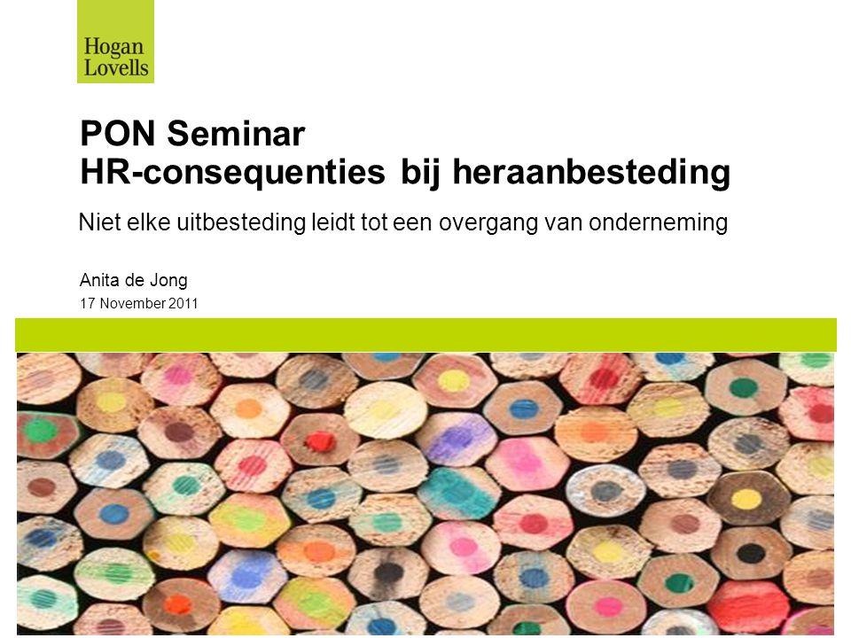 PON Seminar HR-consequenties bij heraanbesteding