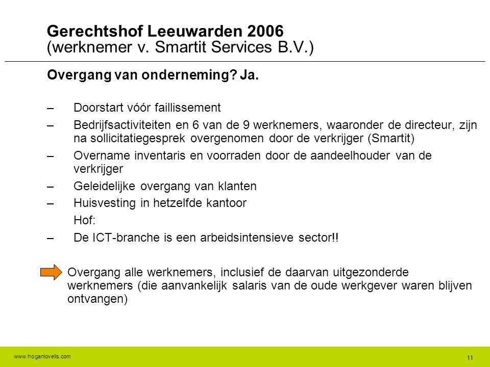 Gerechtshof Leeuwarden 2006 (werknemer v. Smartit Services B.V.)