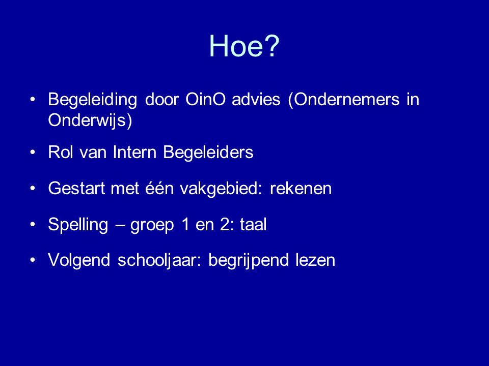 Hoe Begeleiding door OinO advies (Ondernemers in Onderwijs)