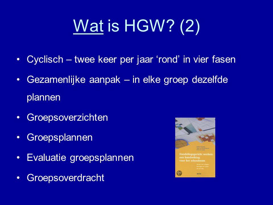 Wat is HGW (2) Cyclisch – twee keer per jaar 'rond' in vier fasen
