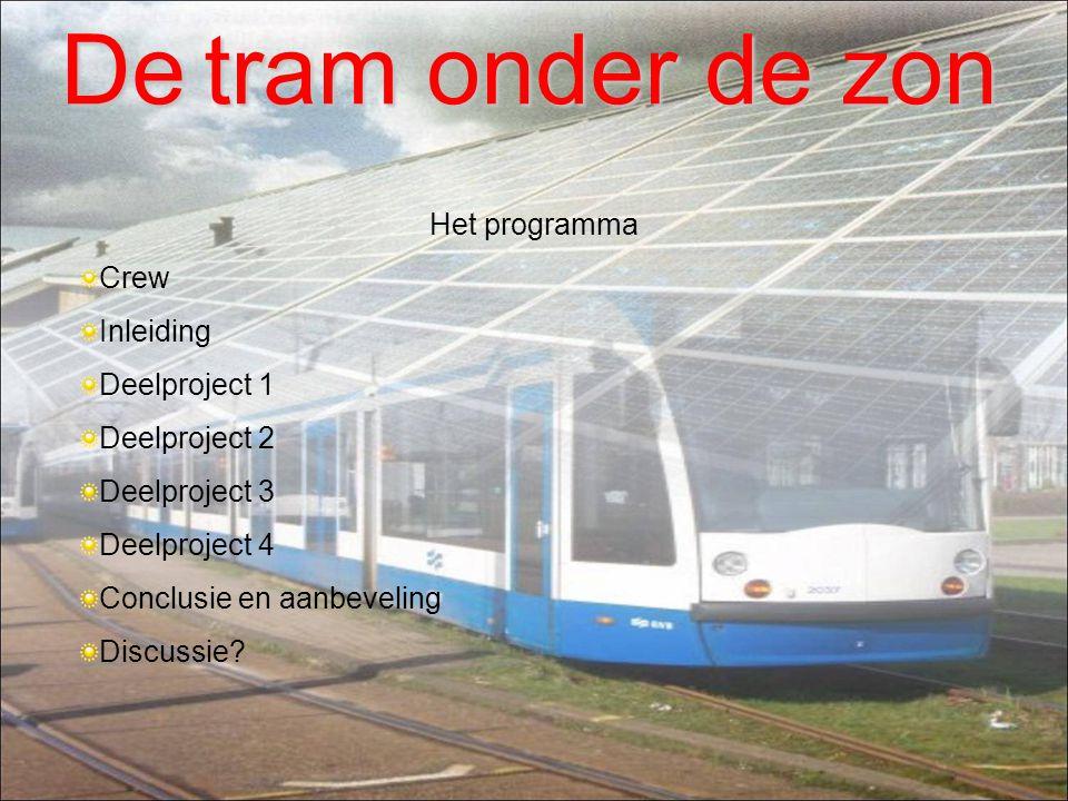 De tram onder de zon Het programma Crew Inleiding Deelproject 1