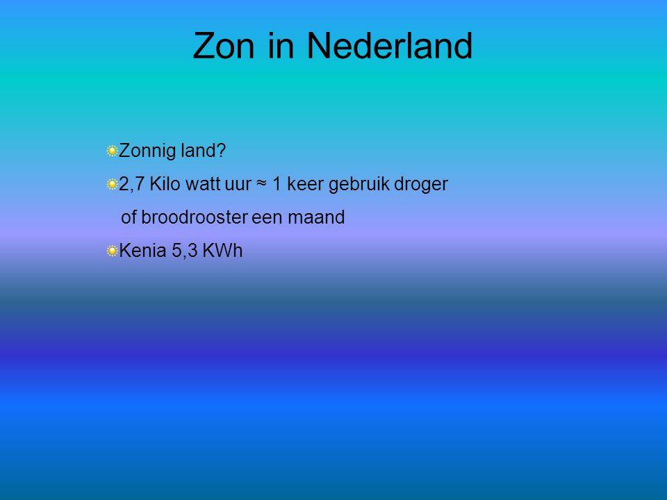Zon in Nederland Zonnig land