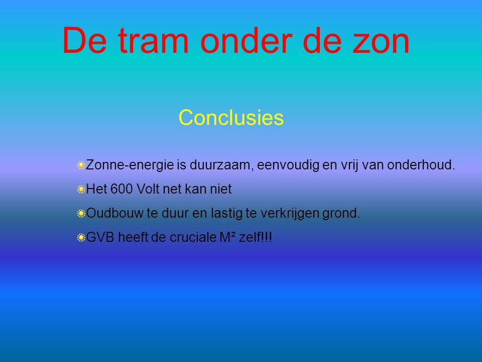 De tram onder de zon Conclusies