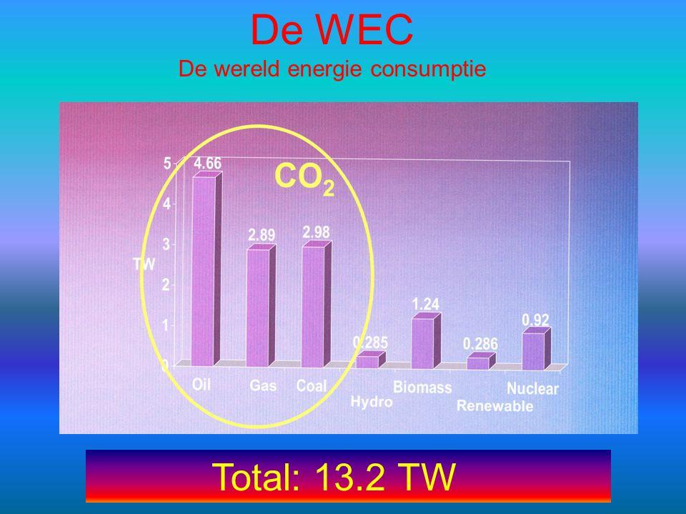 De wereld energie consumptie