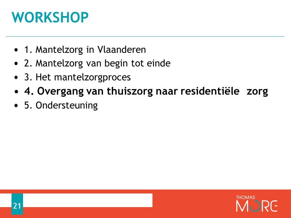 workshop 4. Overgang van thuiszorg naar residentiële zorg